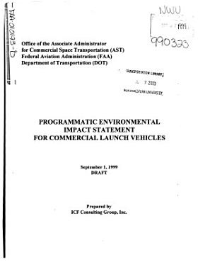 Programmatic Environmental Impact Statement for Commercial Launch Vehicles PDF