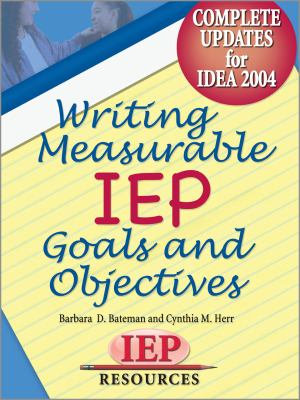 Writing Measurable IEP Goals and Objectives PDF