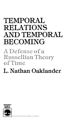 Temporal Relations and Temporal Becoming