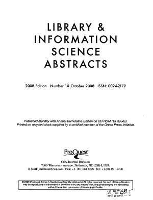 Library   Information Science Abstracts PDF