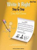 Write It Right, Book 3