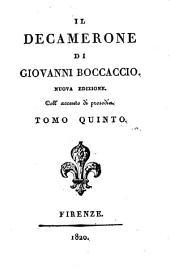Il Decamerone di Giovanni Boccaccio: Volume 5