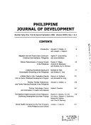 Philippine Journal of Development