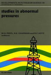 Studies in Abnormal Pressures