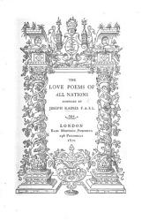 The Love Poems Of All Nations Compiled By J K  Book PDF