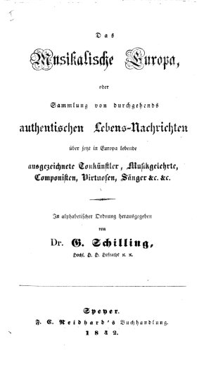 Das musikalische Europa<br>1842