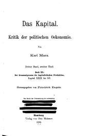 Das kapital: Kritik der politischen oekonomie, Band 3,Teil 2