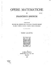 Opere matematische: Volume 4