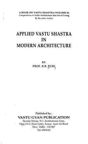 Applied Vastu Shastra in Modern Architecture