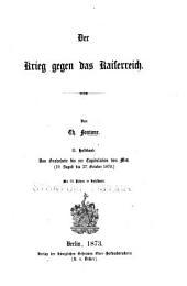 Der krieg gegen Frankreich, 1870-1871: Band 1,Teil 2