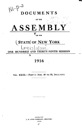 Documents of the Assembly of the State of New York: Volume 23