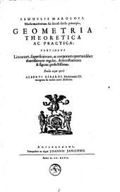 Opera Mathematica, ou Oeuvres mathématiques, traictans de géometrie, perspective, architecture et fortification: Volume 1