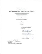 Three Essays on Financial Markets and Monetary Policy PDF