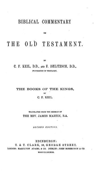 Download Biblical Commentary on the Old Testament Book
