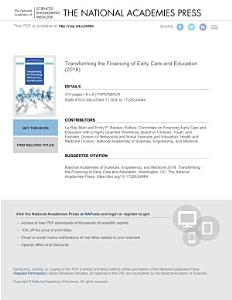 Transforming the Financing of Early Care and Education Book