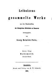 Leibnizens mathematische Schriften: Band 3