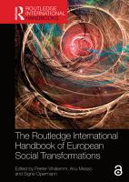 The Routledge International Handbook of European Social Transformations PDF