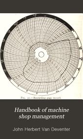 Handbook of Machine Shop Management