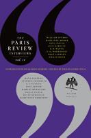 The Paris Review Interviews  IV PDF