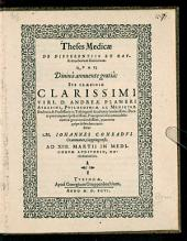 Theses Medicae De Differentiis Et Causis morborum similarium