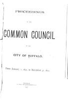 Proceedings of the Common Council of the City of Buffalo      PDF