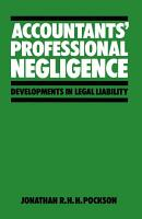 Accountants    Professional Negligence PDF
