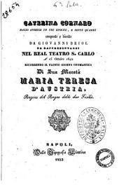Caterina Cornaro ballo storico in tre epoche, e sette quadri composto e diretto da Giovanni Briol