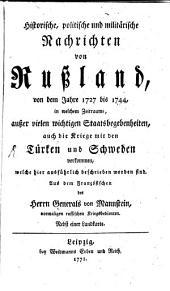 Nachrichten von Rußland von dem Jahre 1727 bis 1744