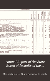 Annual Report of the State Board of Insanity of the Commonwealth of Massachusetts