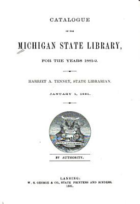 Catalogue of the Michigan State Library PDF