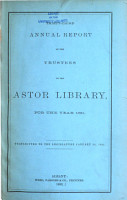 Annual Report of the Trustees of the Astor Library of the City of New York PDF