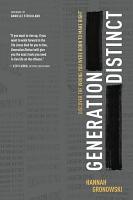 Generation Distinct PDF
