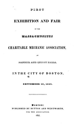 Exhibition and Fair of the Massachusetts Charitable Mechanic Association