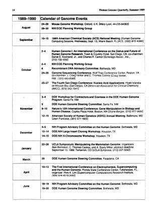 Human Genome News