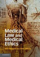 Medical Law and Medical Ethics PDF