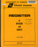 Register of Officers and Cadets