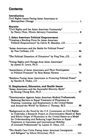 Civil Rights Issues Facing Asian Americans in Metropolitan Chicago PDF
