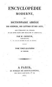 Encyclopédie moderne, ou, Dictionnaire abrégé des sciences, des lettres et des arts: avec l'indication des ouvrages ou les divers sujets sont développés et approfondis, Volume24
