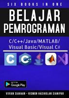 SIX BOOKS IN ONE  Belajar Pemrograman C C   Java MATLAB Visual Basic Visual C  PDF