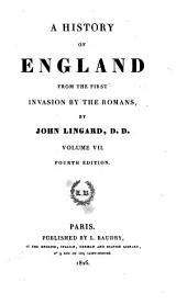 A History of England: From the First Invasion by the Romans, Volume 7