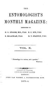 The Entomologist's Monthly Magazine: Volume 10