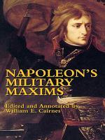 Napoleon s Military Maxims PDF