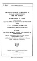 The analysis and evaluation of public expenditures