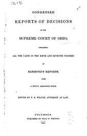 Ohio Condensed Reports