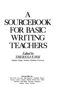 A Sourcebook for Basic Writing Teachers PDF