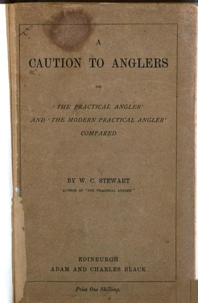 A Caution To Anglers Or The Practical Angler And The Modern Practical Angler Compared