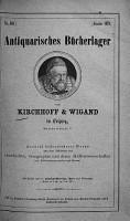 Antiquarisches B  cherlager von Kirchhoff   Wigand in Leipzig PDF