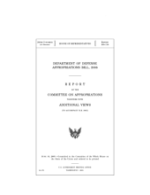 DEPARTMENT OF DEFENSE APPROPRIATIONS BILL, 2006: report on the committee of appropriations together with additional views