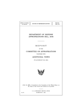 DEPARTMENT OF DEFENSE APPROPRIATIONS BILL  2006  report on the committee of appropriations together with additional views PDF