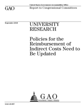 University Research: Policies for Reimbursement of Indirect Costs Need to be Updated